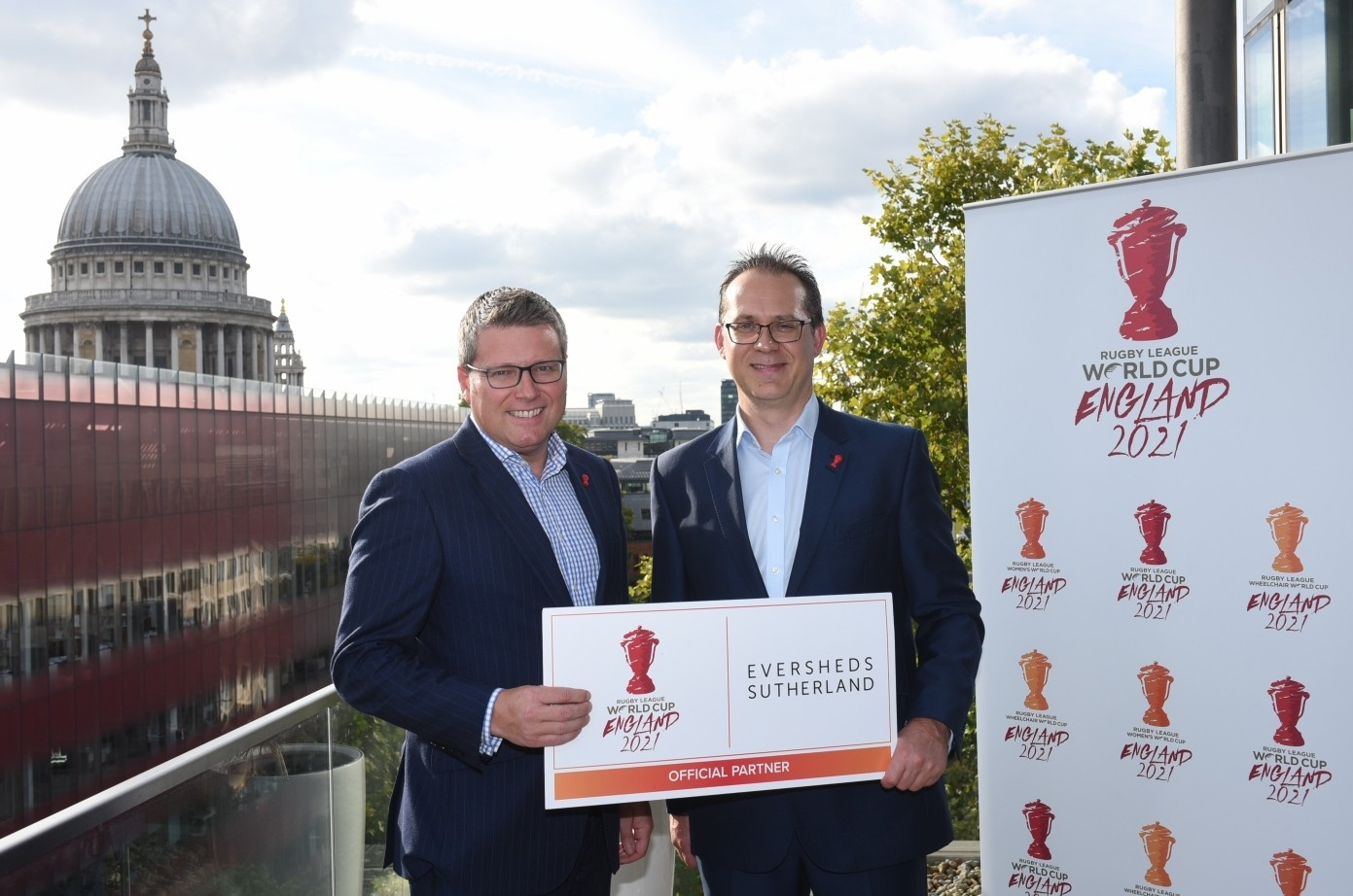 Eversheds Sutherland have signed up as the first official partner of the 2021 Rugby League World Cup in England ©RFL