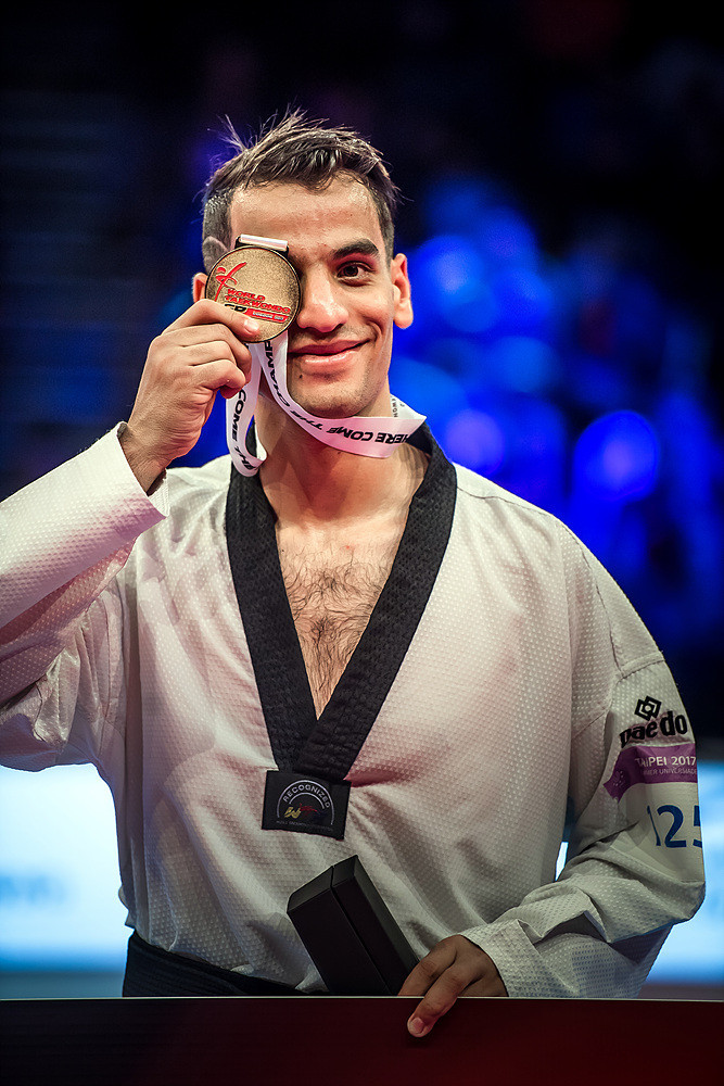 Rio 2016 Olympic champion Ahmad Abughaush won the the men's under 68 kilograms title on the opening day of the World Taekwondo Grand Prix in London ©World Taekwondo