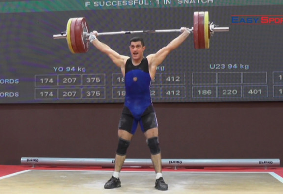 Armenia's Karush Ghukasyan won the gold medal in the European Under-23 Championships ©ARMNOC
