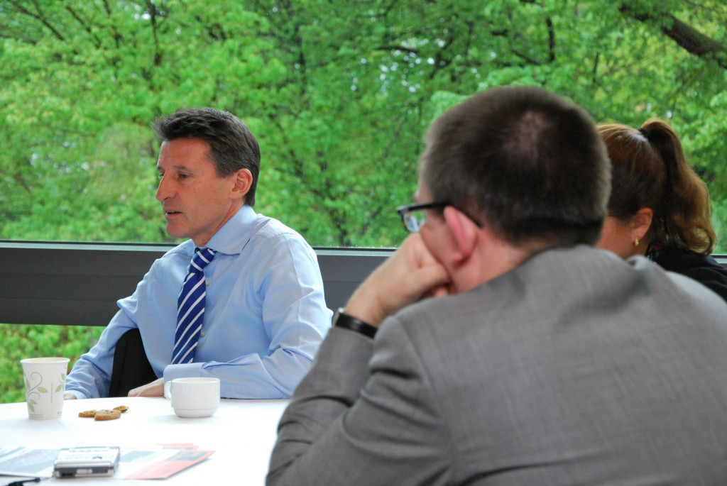 "Sebastian Coe claims he is ""angered by the potrayal of my sport"" ©ITG"