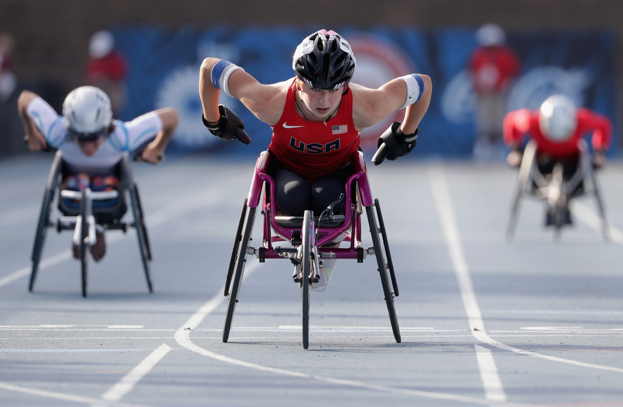 Alexa Halko was named Female Track Athlete of the Year having won three medals at the 2017 World Para Athletics Championships in London ©Getty Images