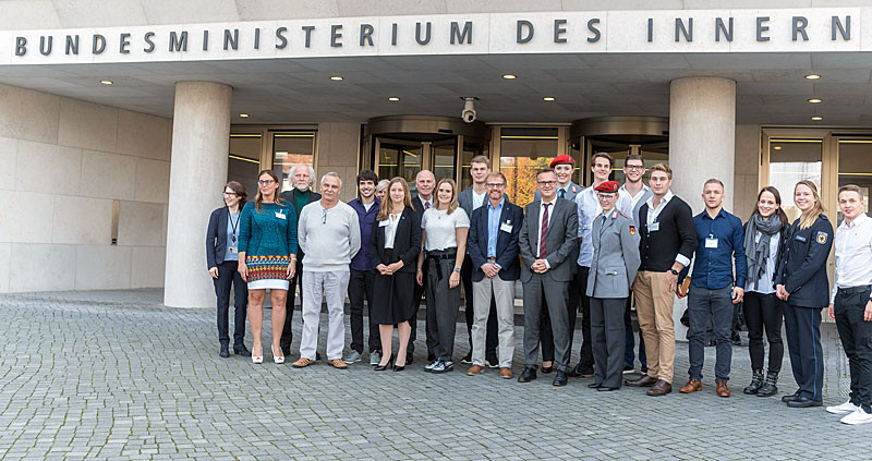 German Summer Universiade medallists were honoured at the Ministry of the Interior ©FISU