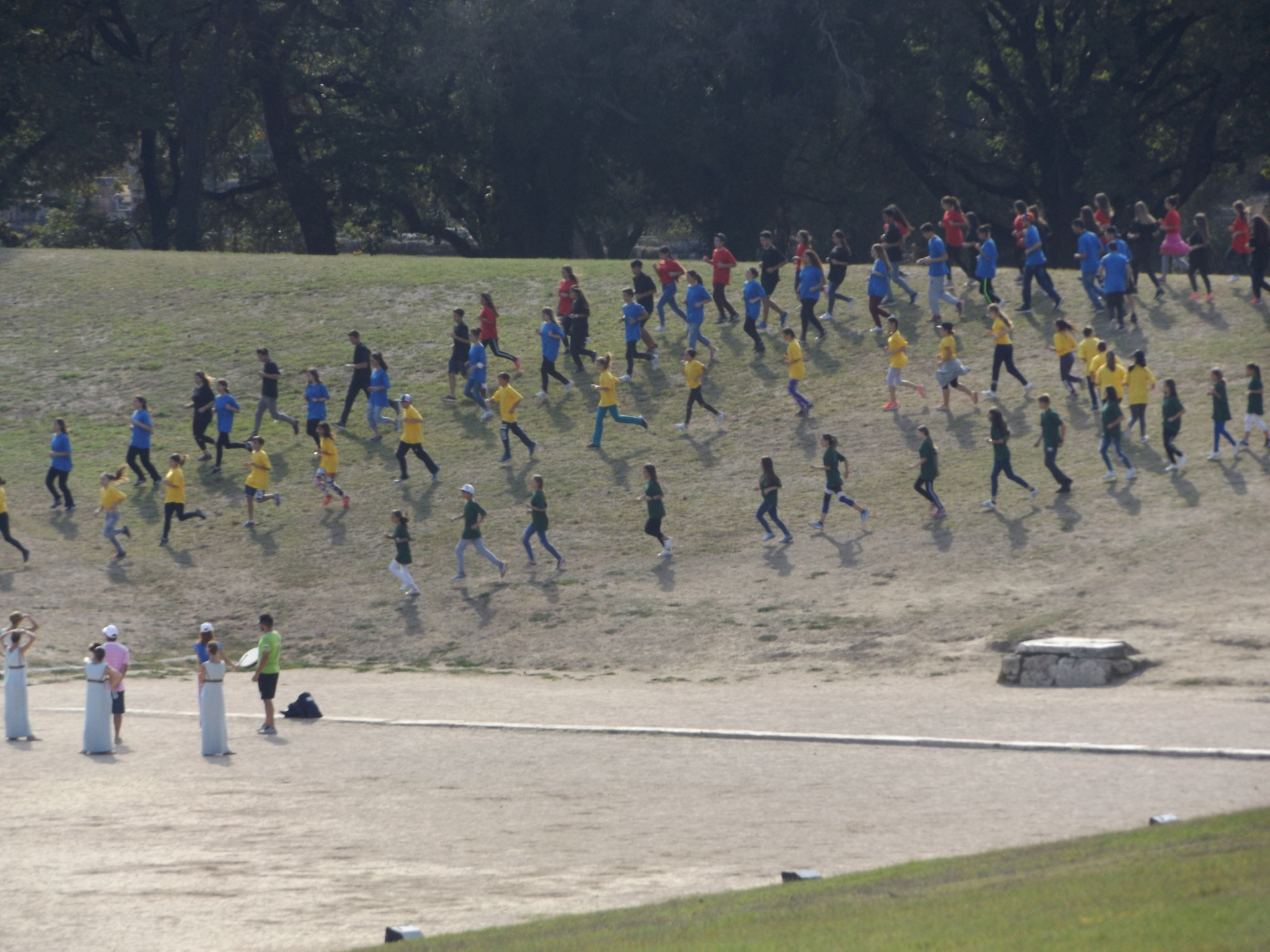 Actors are put through their paces before the ceremony ©ITG