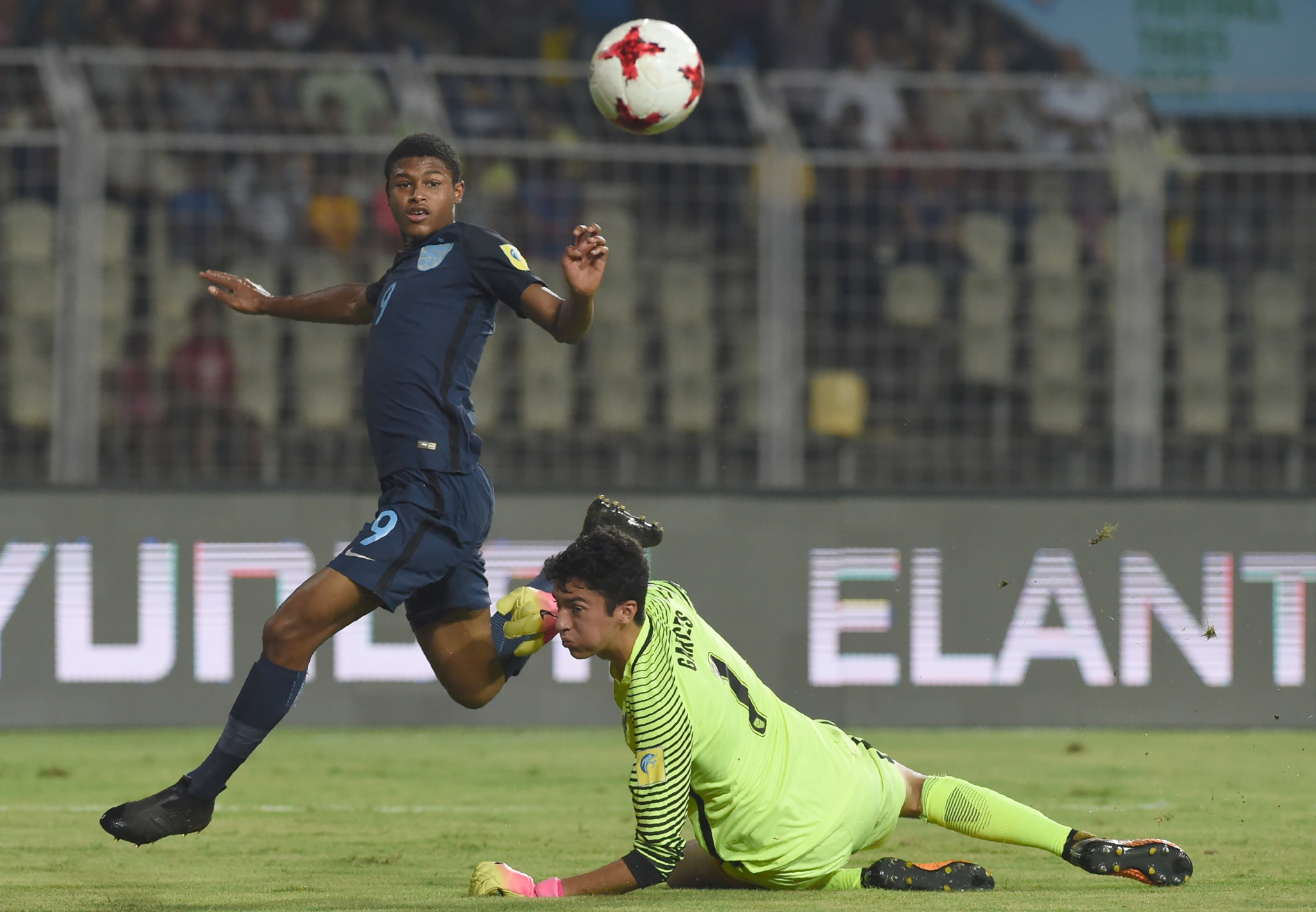 Brewster hat-trick leads England to semi-finals of FIFA Under-17 World Cup