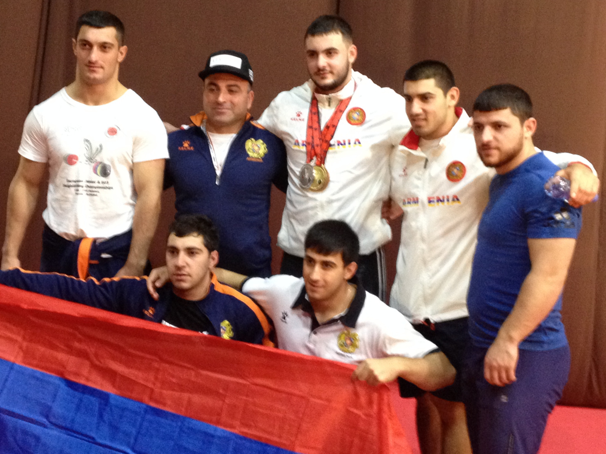 Armenia's Simon Martirosyan, who won a silver medal at Rio 2016, and his compatriot Gor Minasyan were among their country's three medallists at Durres today ©ITG