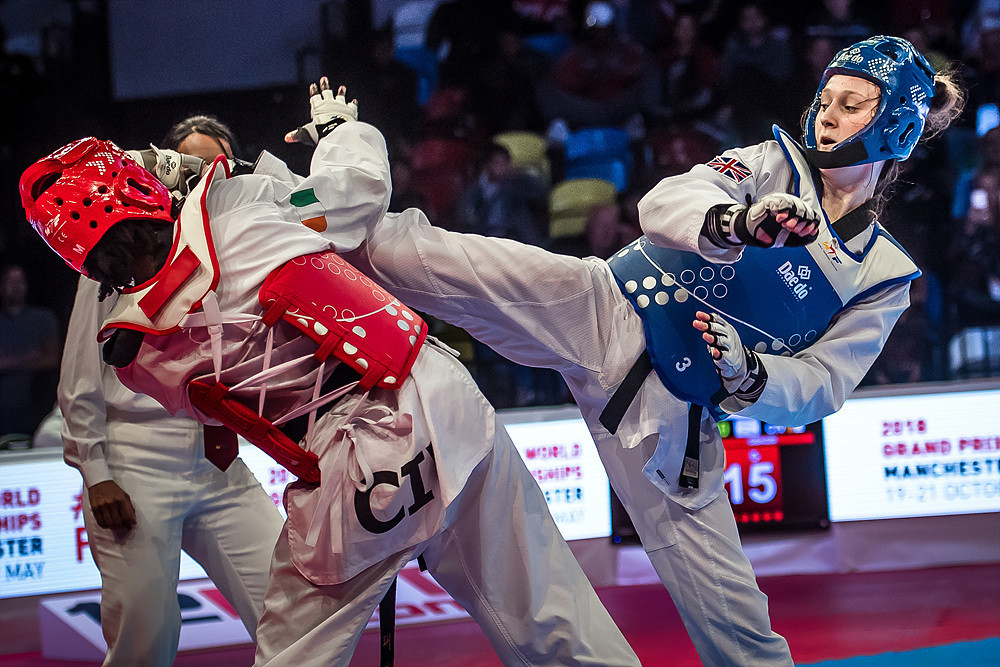 Lauren Williams, right, is one of the successful athletes to come through GB Taekwondo's Fighting Chance scheme ©Getty Images