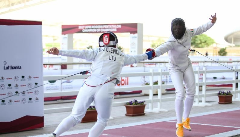 Lina Batuleviciute was the dominant force in the fencing stage ©UIPM