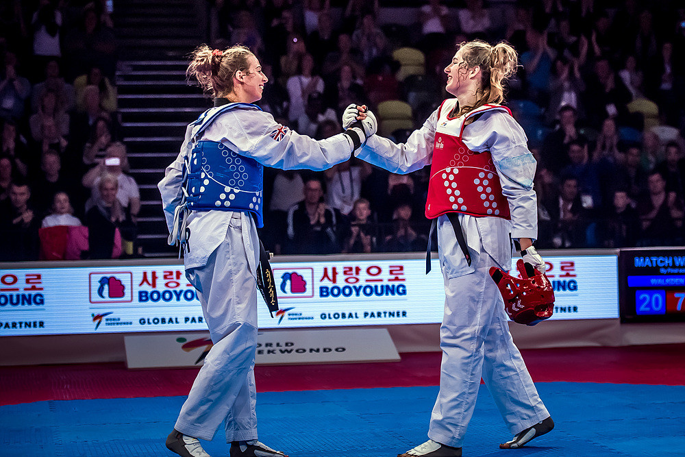 Walkden came out on top in the women's over-67kg category at the expense of Poland's Aleksandra Kowalczuk ©World Taekwondo