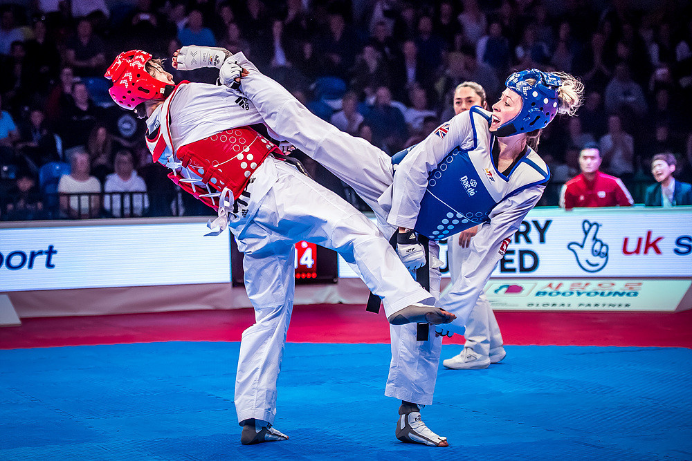 Double Olympic champion Jones delighted the home crowd after beating reigning world gold medallist Lee Ah-Reum of South Korea in the women's under-57 kilograms final ©World Taekwondo