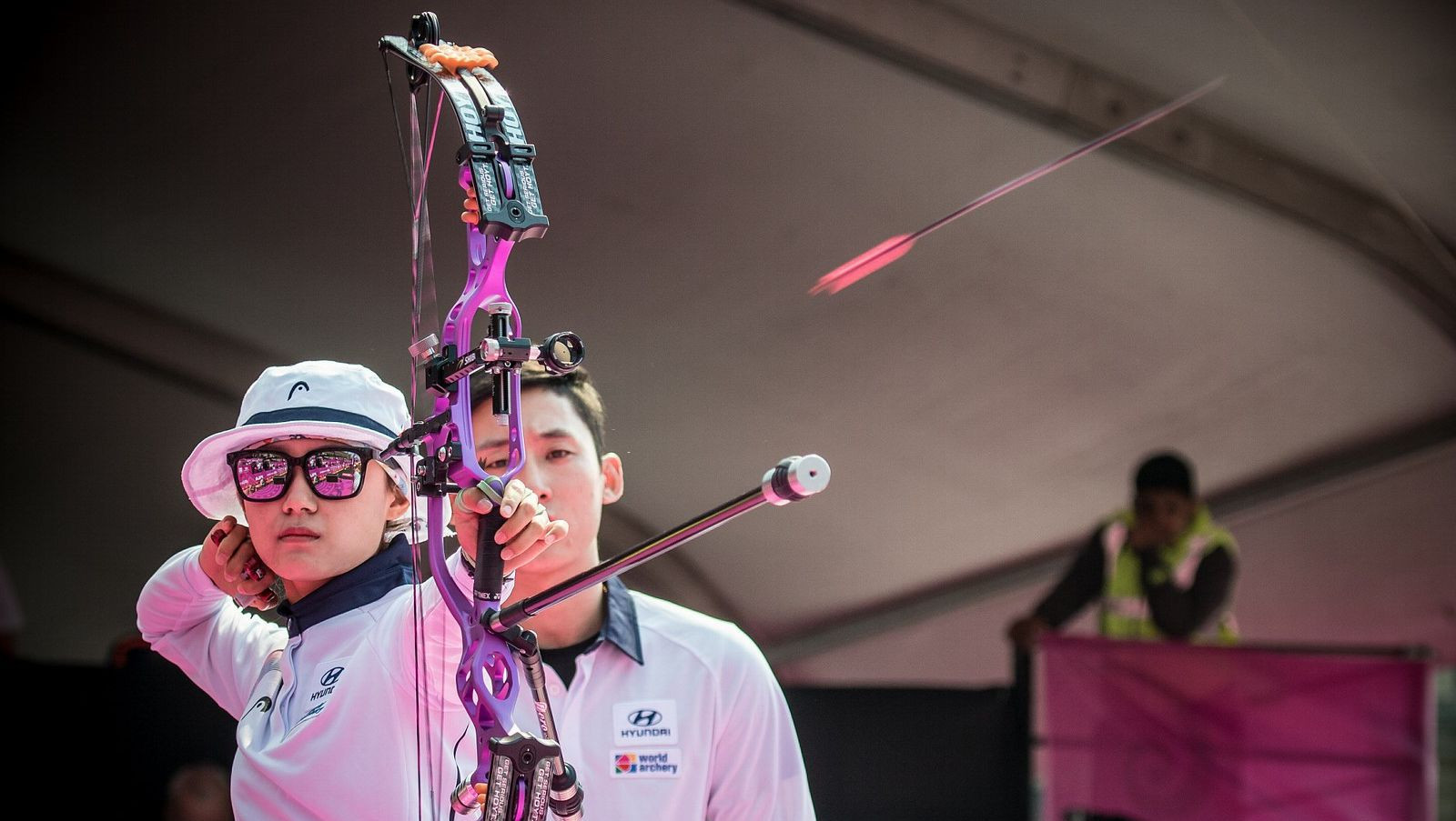Peineau and Song claim individual compound titles at World Archery Championships