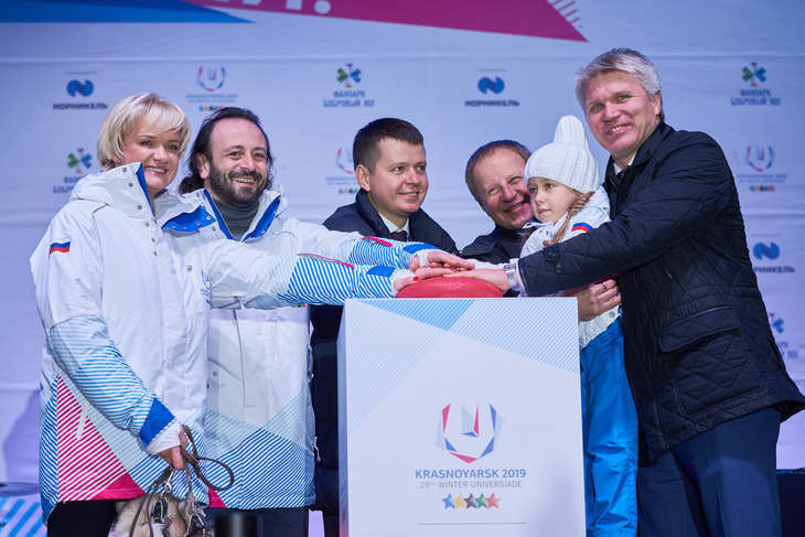 Kolobkov joins in celebrations as Krasnoyarsk 2019 marks 500 days to go