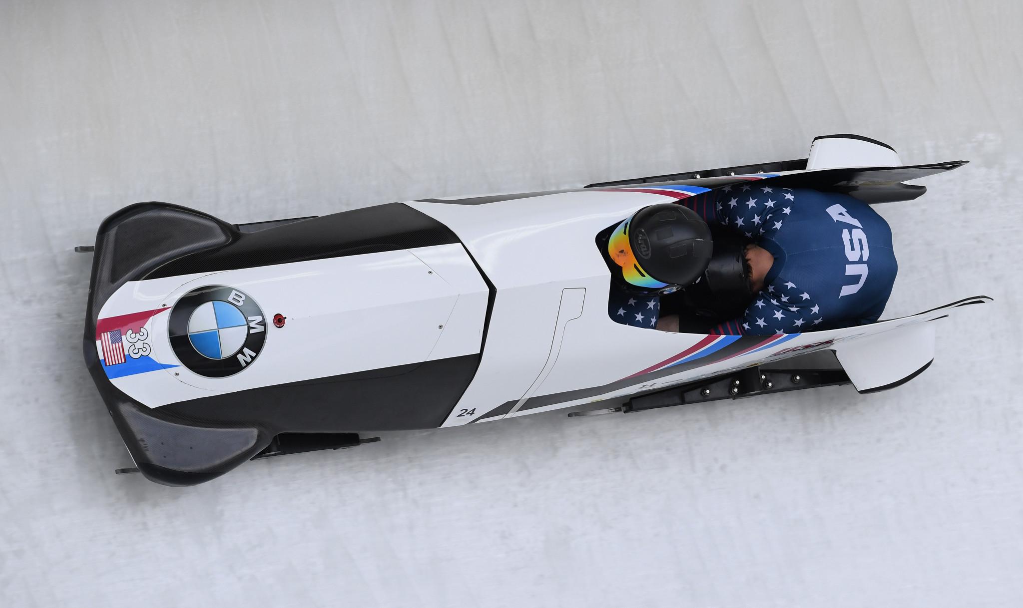 Bascue, Olsen and Cunningham headline US men's bobsled squad for 2017-2018 season
