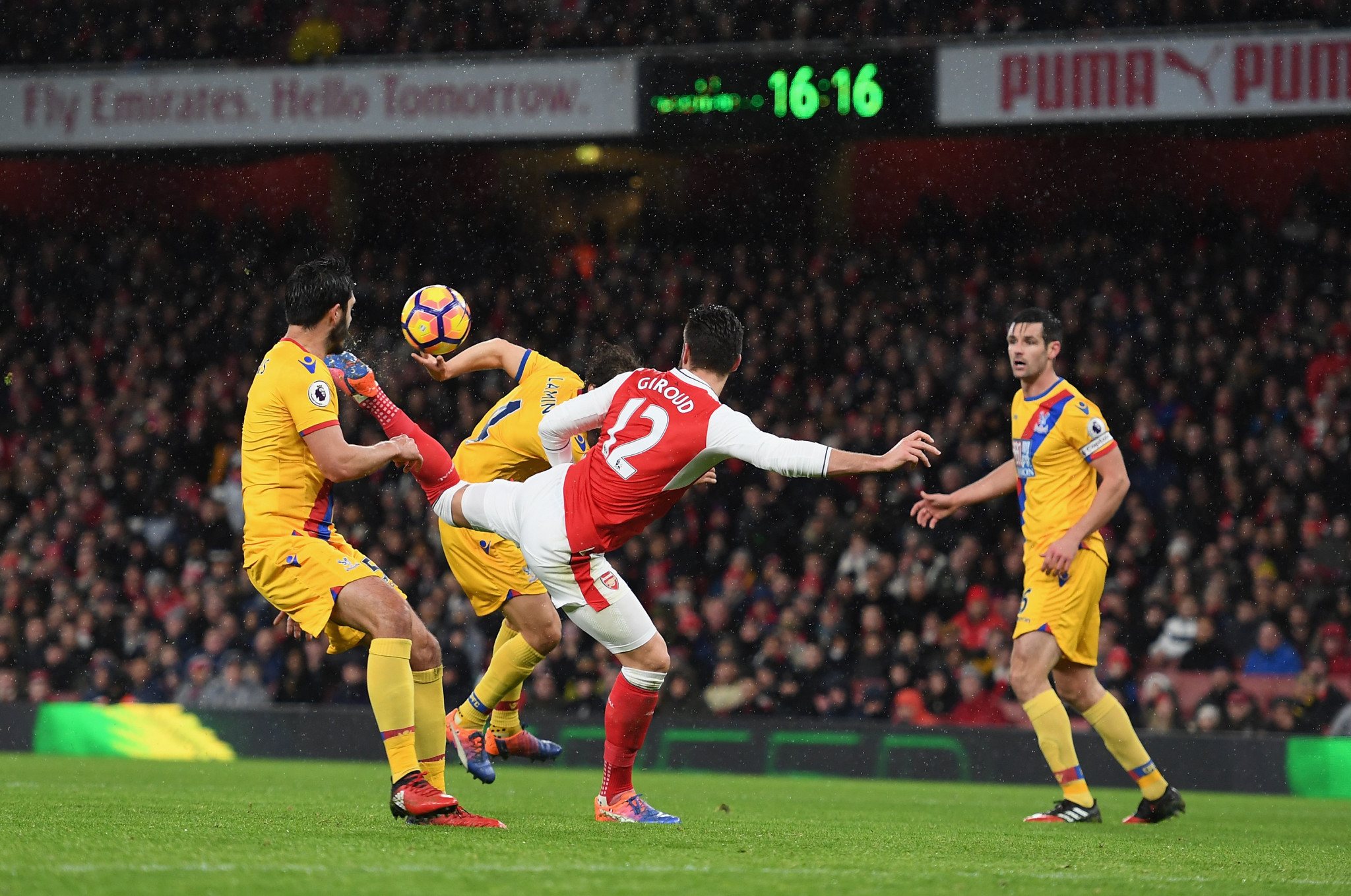 Olivier Giroud has been nominated for the Puskas award for the best goal of the year ©Getty Images