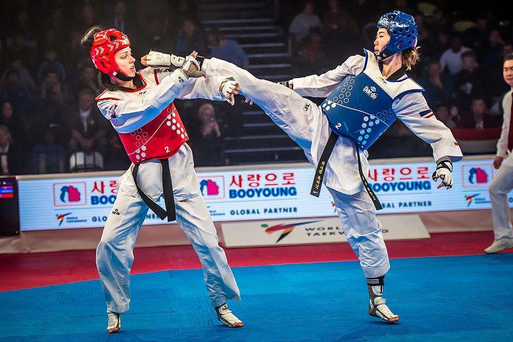 Thailand's Panipak Wongpattanakit cruised to victory over Serbia's Tijana Bogdanovic in the women's under 49kg final ©World Taekwondo