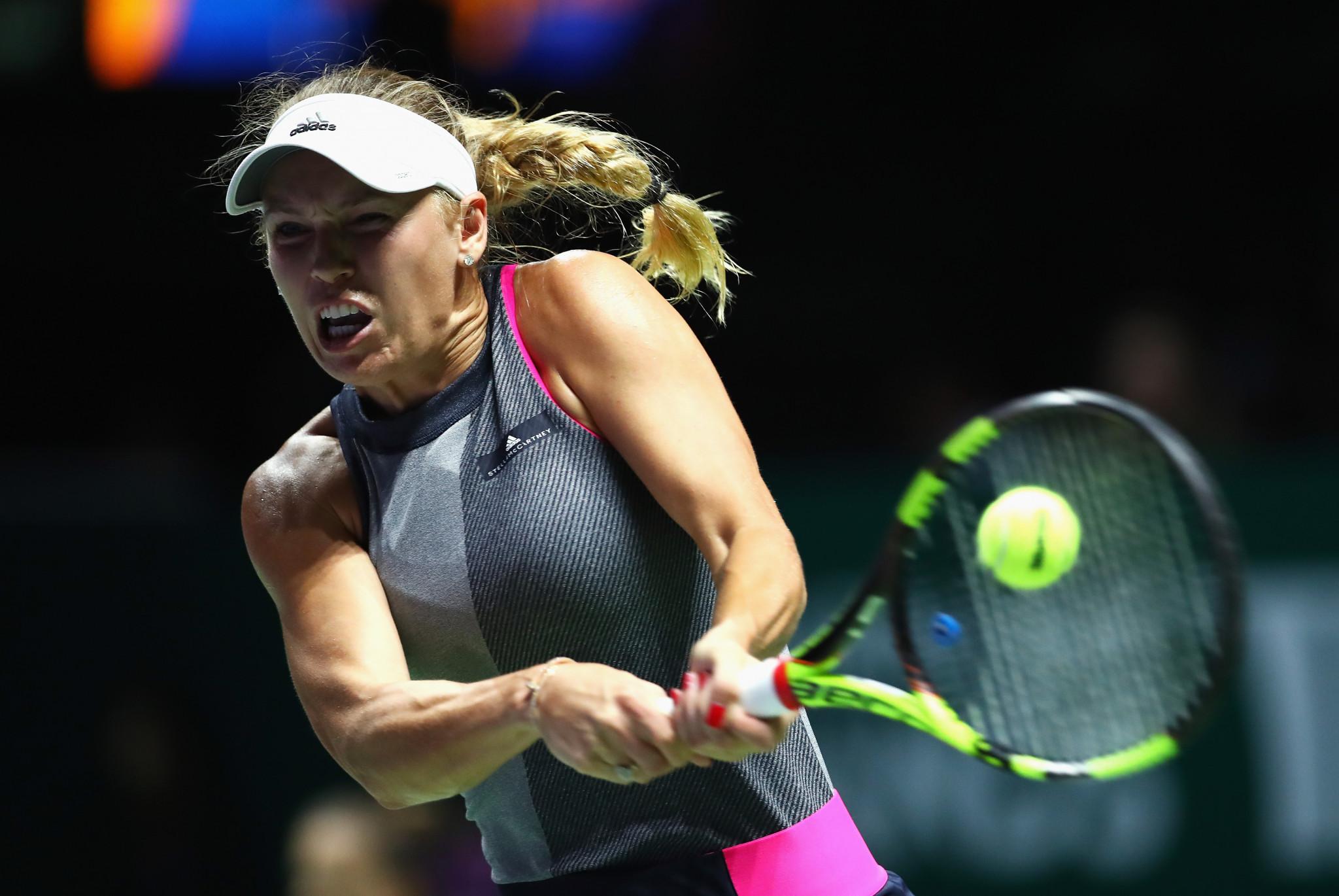 Caroline Wozniacki, pictured, brushed aside Elina Svitolina today ©Getty Images
