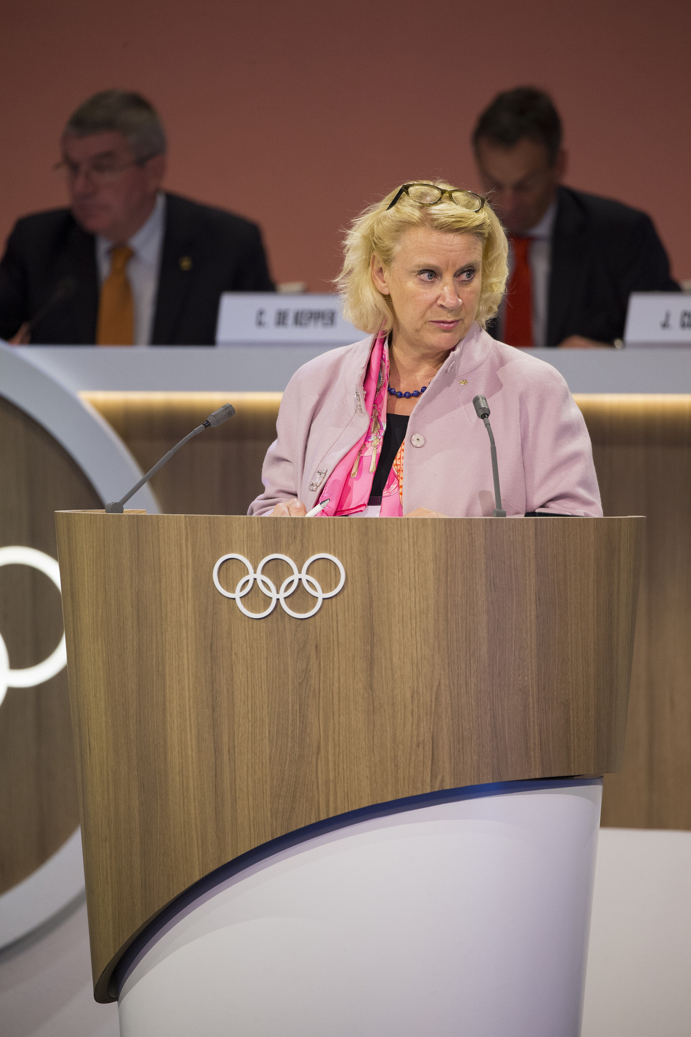 IOC chief ethics and compliance officer Päquerette Girard Zappelli gave an update to the IOC Session in Lima last month on the progress of the Schmid Commission ©IOC