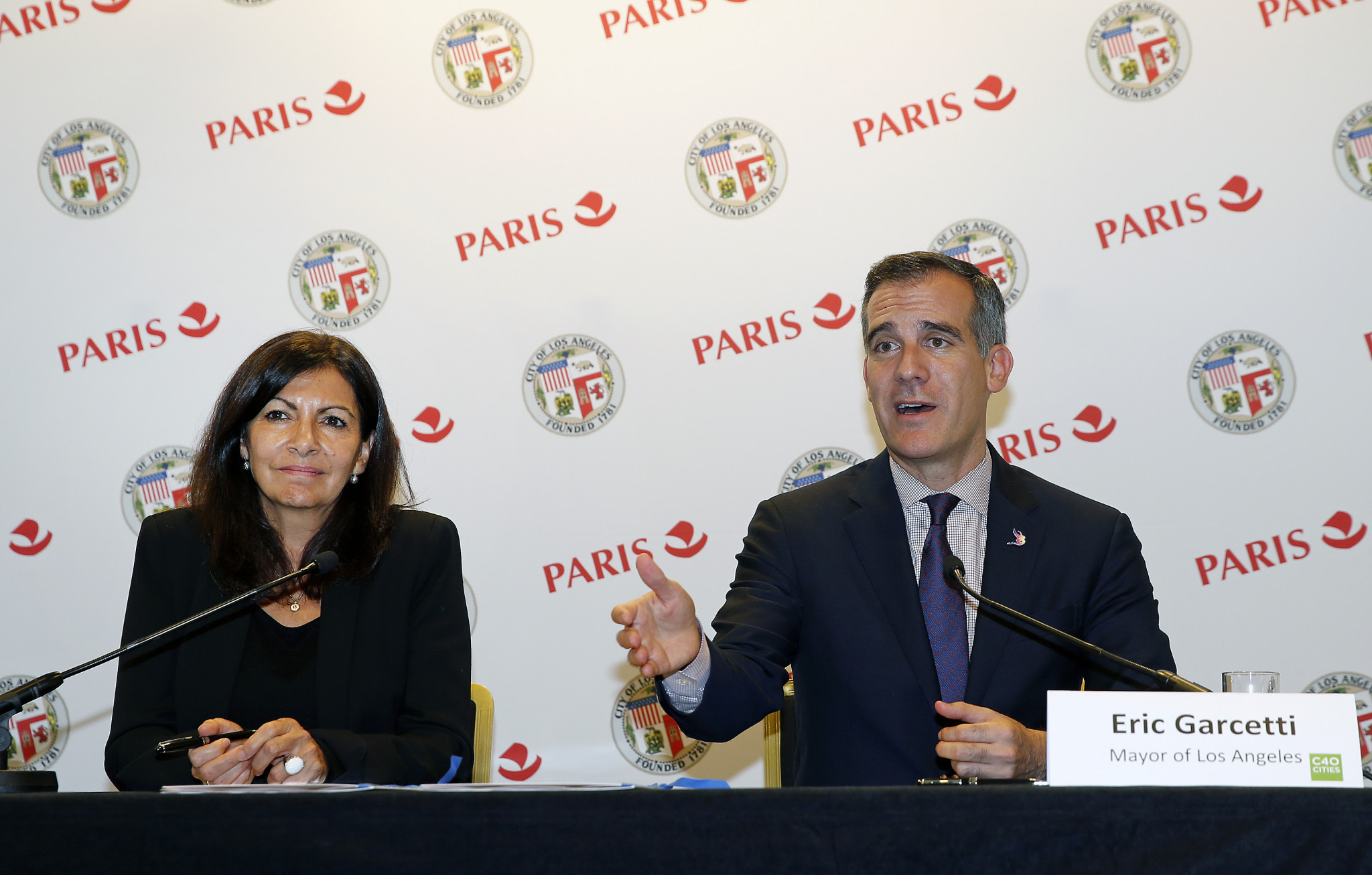 Garcetti says Los Angeles 2028 will uphold values as deal with Paris 2024 is signed