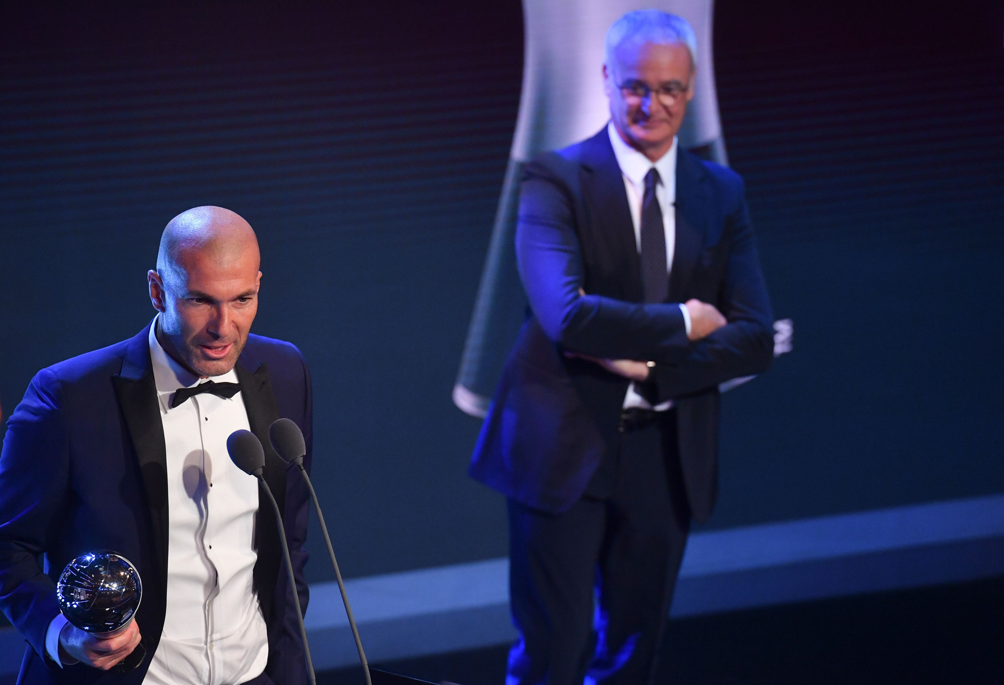 Zinédine Zidane won the Men's Coach of the Year prize ©Getty Images