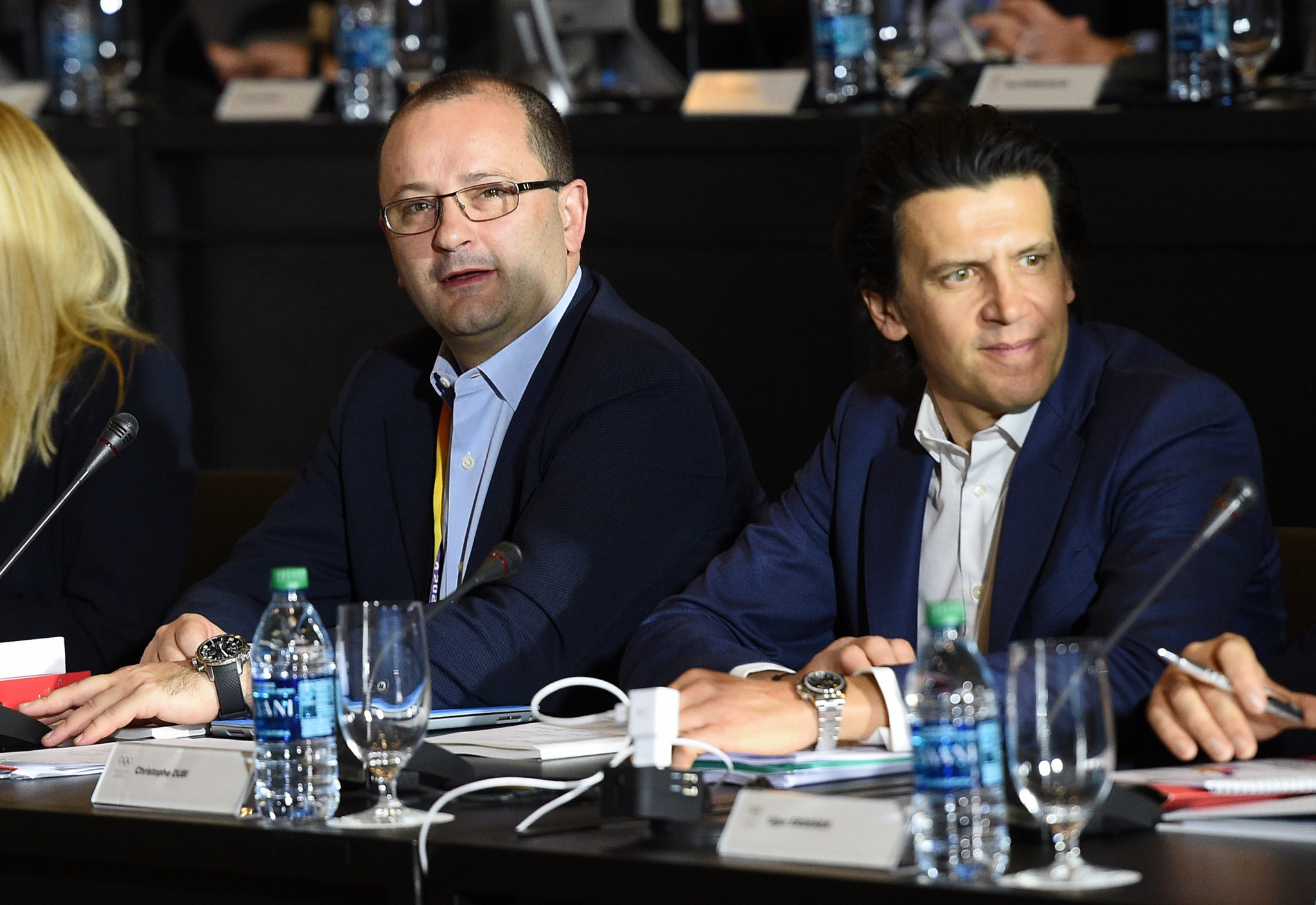 Senior IOC official Christophe Dubi, right, recently claimed as much as $500 million could be saved through the organisation's Winter Games management reforms ©Getty Images