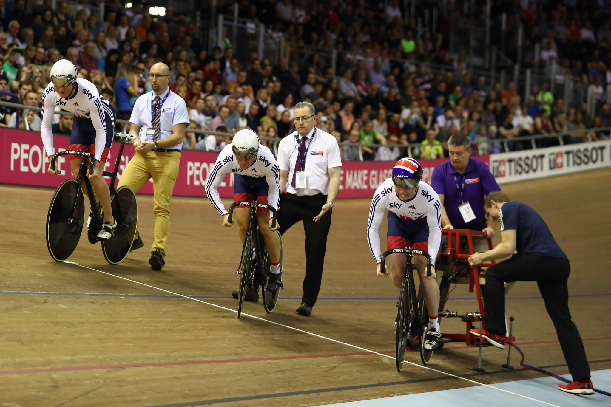 Track cycling competition will be held at the Sir Chris Hoy Velodrome next year ©Getty Images