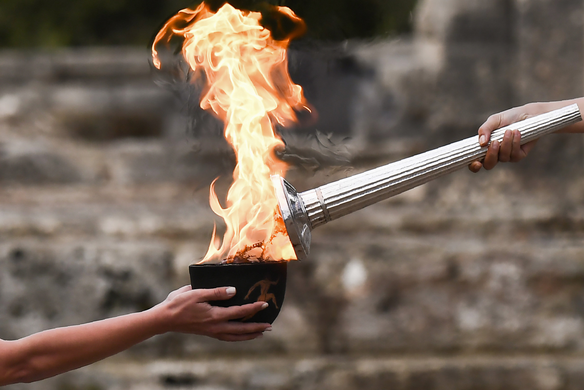 Pyeongchang 2018 Torch lighting takes place with reserve flame