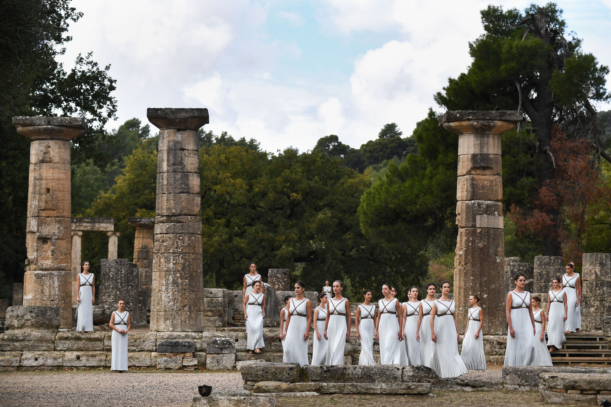 The Temple of Hera took centre stage for the event ©Getty Images