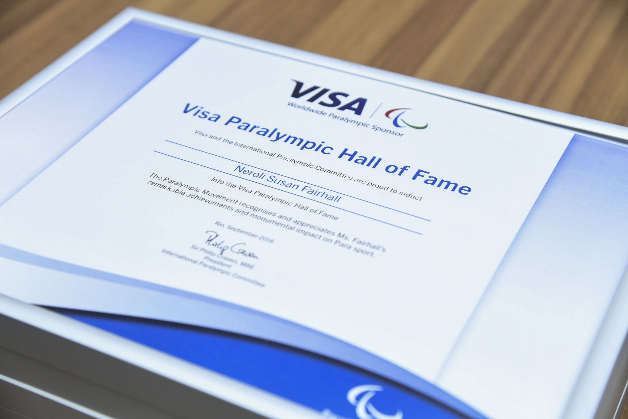 Visa has supported Paralympic sport since 2003, including initiatives such as the Hall of Fame ©Getty Images