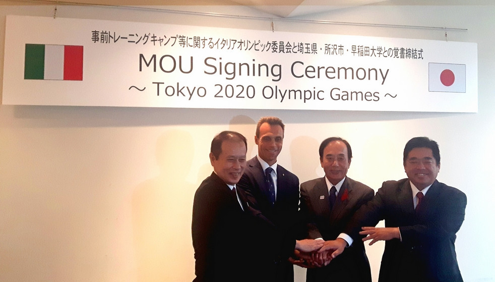 CONI sign agreement for Tokyo 2020 training base