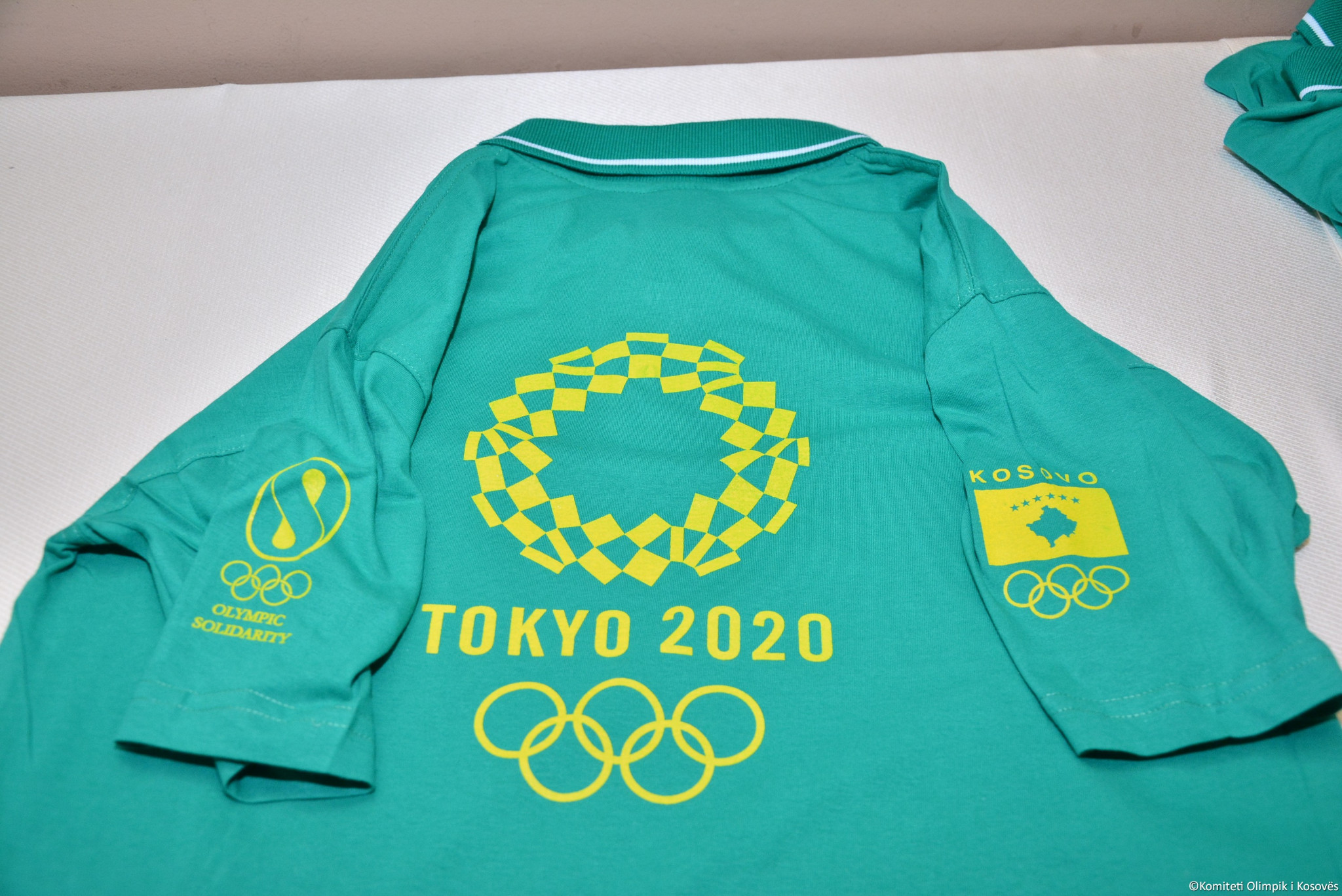 The jersey which will be worn by athletes from Kosovo at the Tokyo 2020 Olympics ©Kosovo Olympic Committee