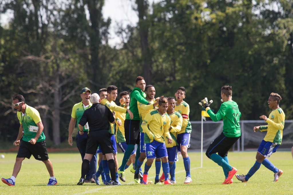 Brazil sealed their spot in the semi-finals of the U19 CP World Football Championships with a 7-0 thrashing of The Netherlands