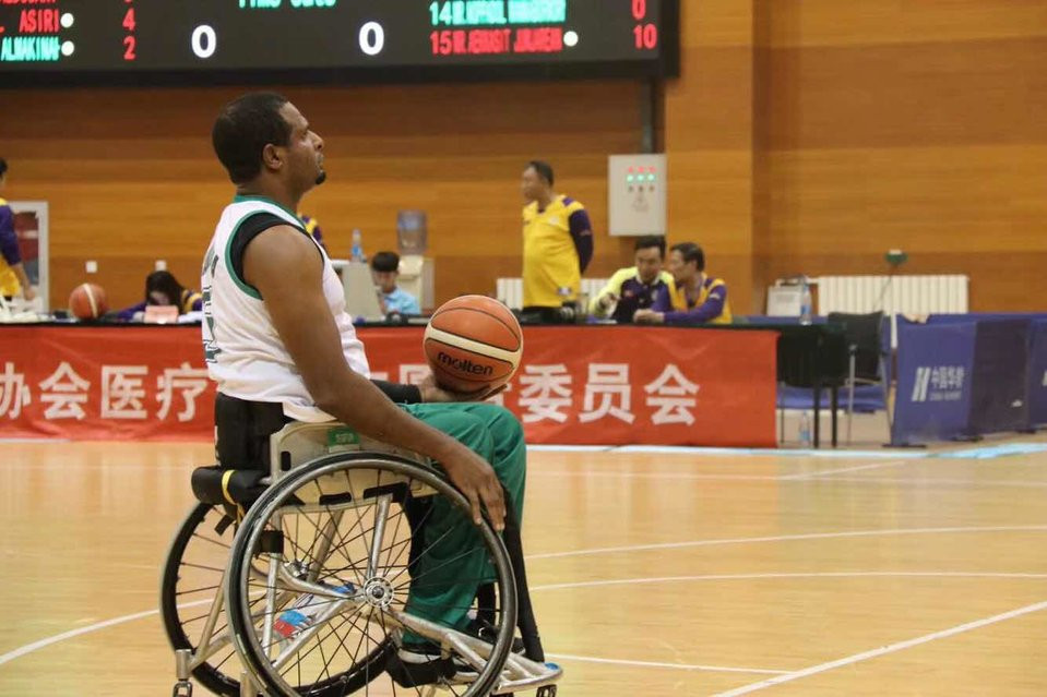 Action continued at the Chinese Paralympic Training Venue ©IWBF