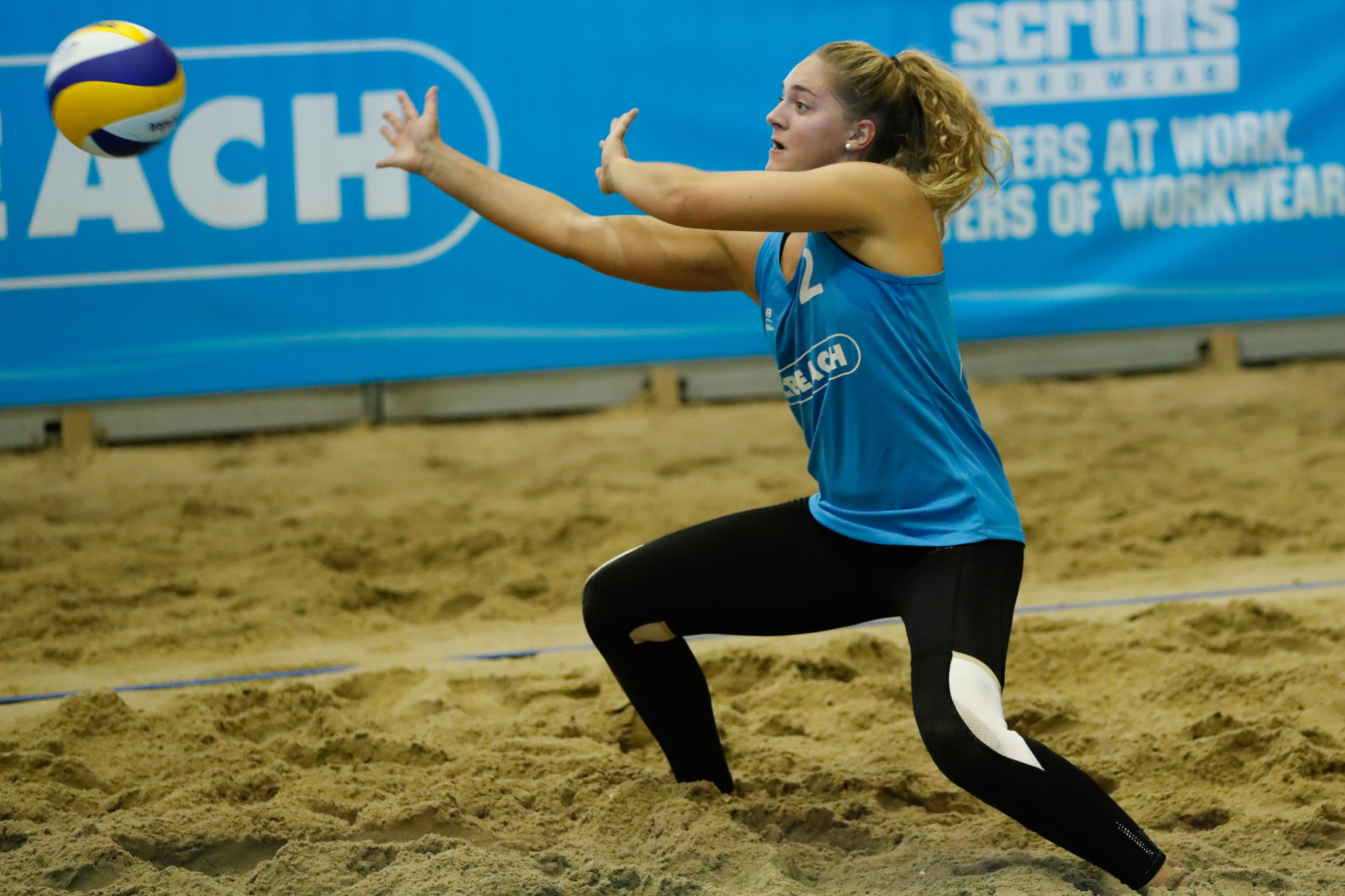 Margaux Carrere, pictured, and partner Alexia Richard are safely through ©FIVB