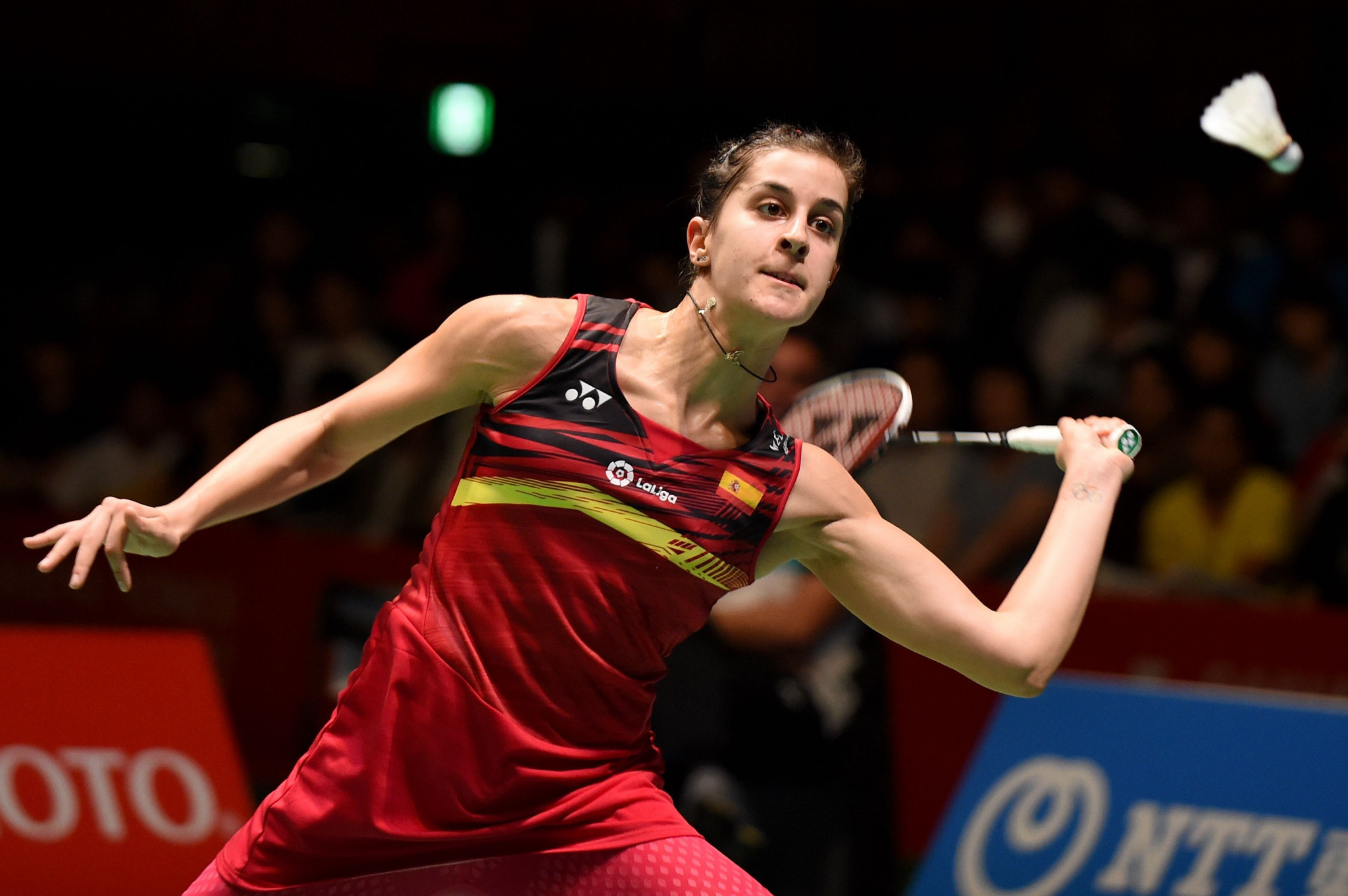 Carolina Marin earned an impressive first round win ©Getty Images