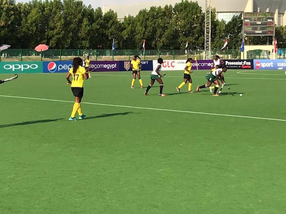 Action continued at the Suez Canal Hockey Stadium today ©African Hockey Federation/Facebook
