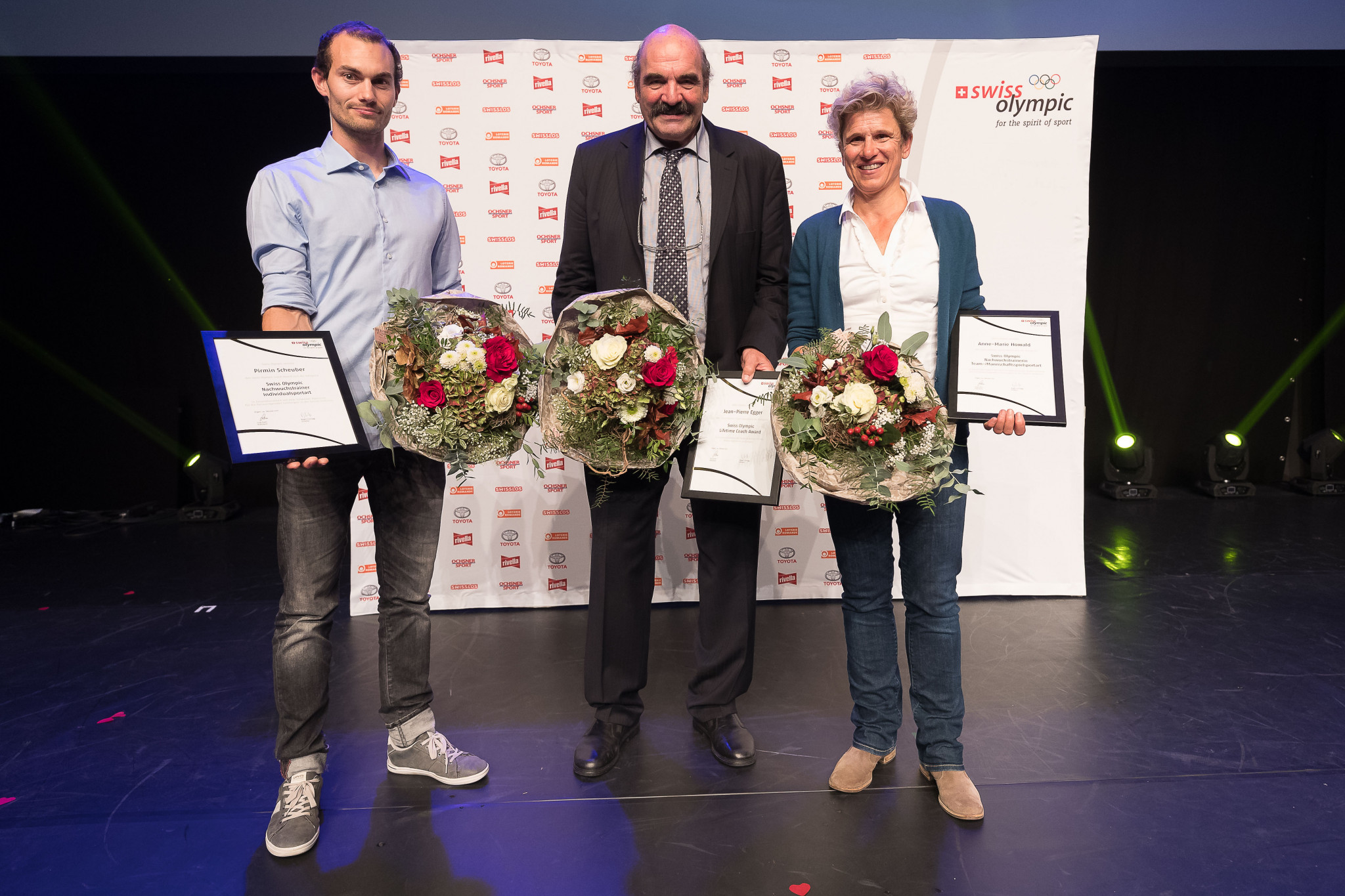 Swiss Olympic honours achievements of coaches at annual awards ceremony