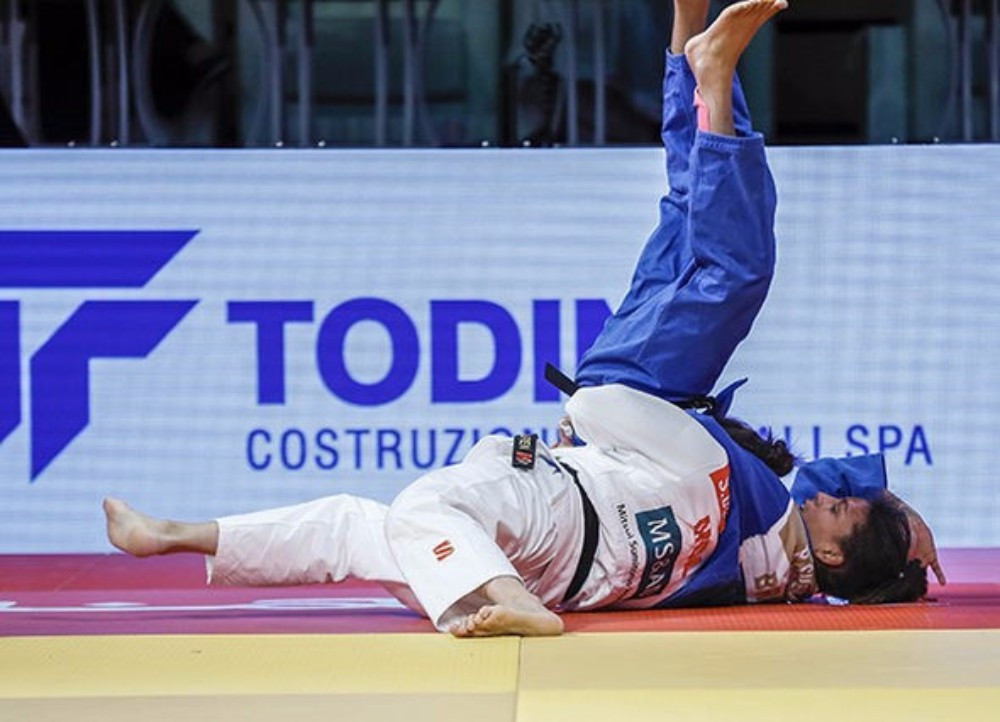 Mongolia's world champion Sumiya Dorjsuren triumphed in the women's under 57kg final ©IJF
