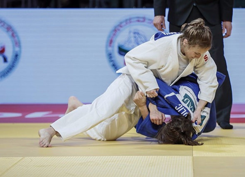 Russia's Irina Dolgova claimed her second win at the Abu Dhabi Grand Slam in three years ©IJF