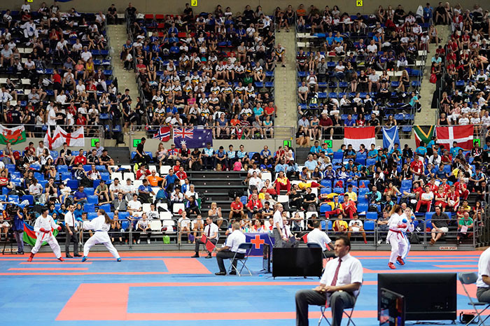 Competition continued today in Tenerife ©WKF