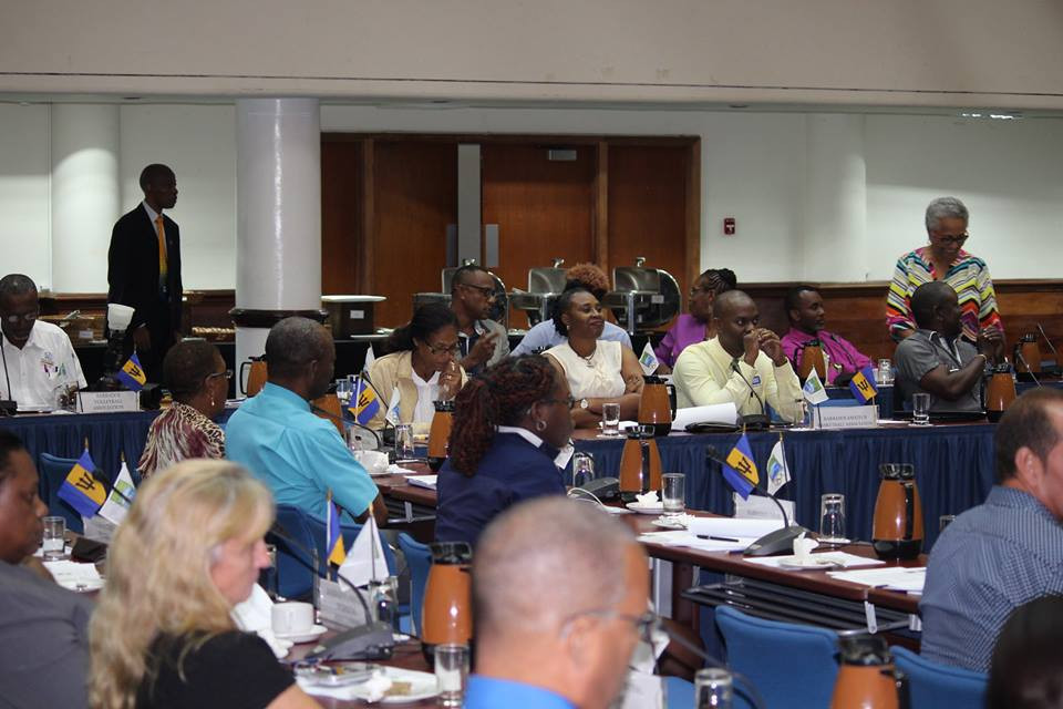 Delegates pictured attending the meeting in Bridgetown ©BOA/Facebook