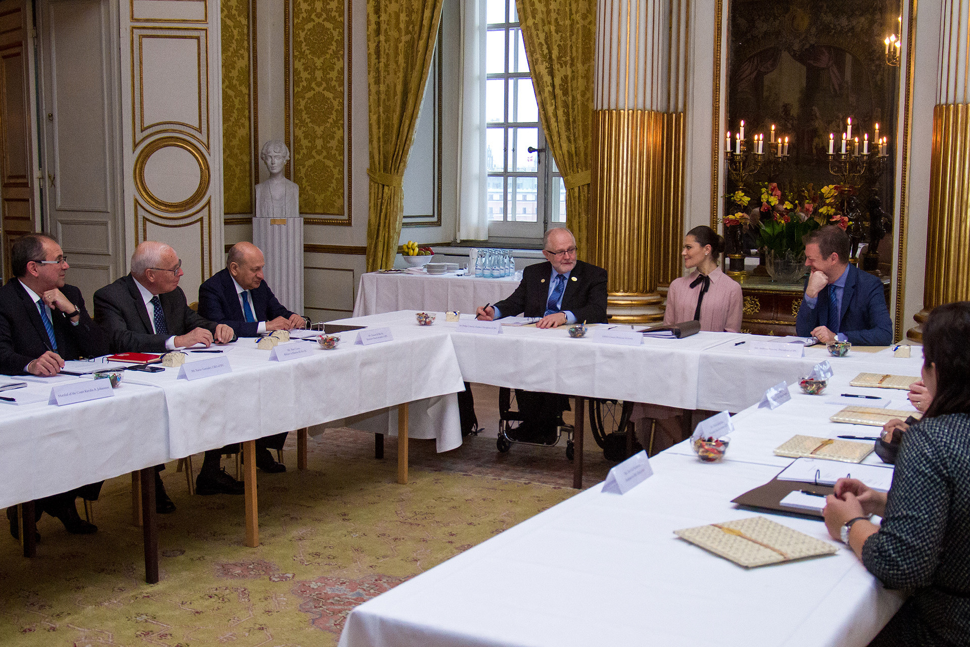 The biennial meeting of the Honorary Board of the International Paralympic Committee at the Royal Palace in Stockholm ©Royal Court, Sweden