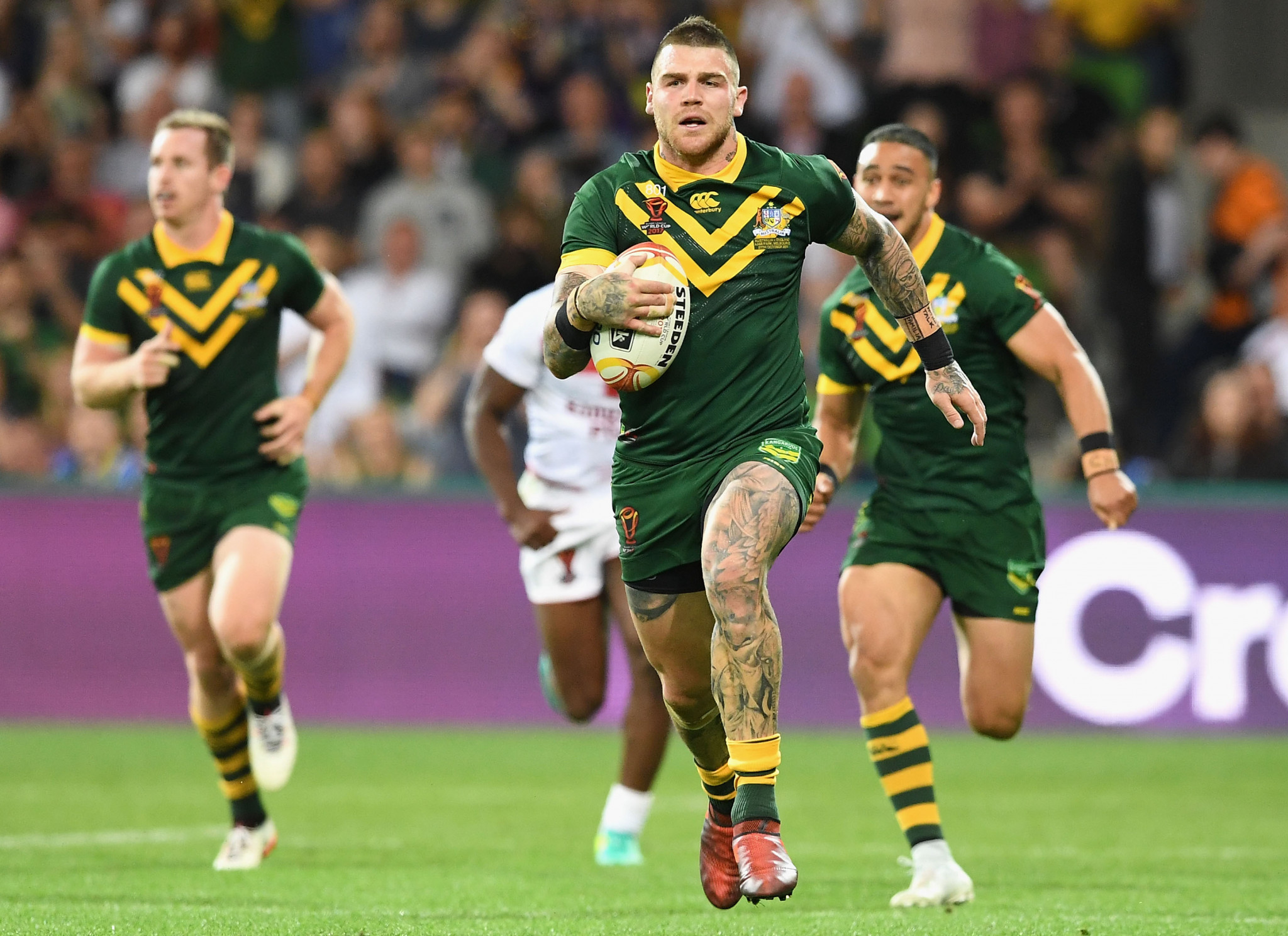 Josh Dugan scored a last-minute try to seal victory ©Getty Images