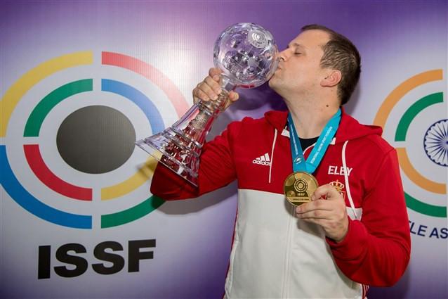 Serbia's Damir Mikec won a narrow men's 50m pistol final ©ISSF