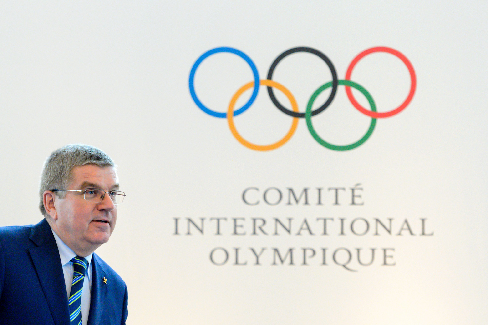 Thomas Bach, pictured speaking after an Olympic Summit in 2016, is expected to chair the meeting tomorrow ©Getty Images