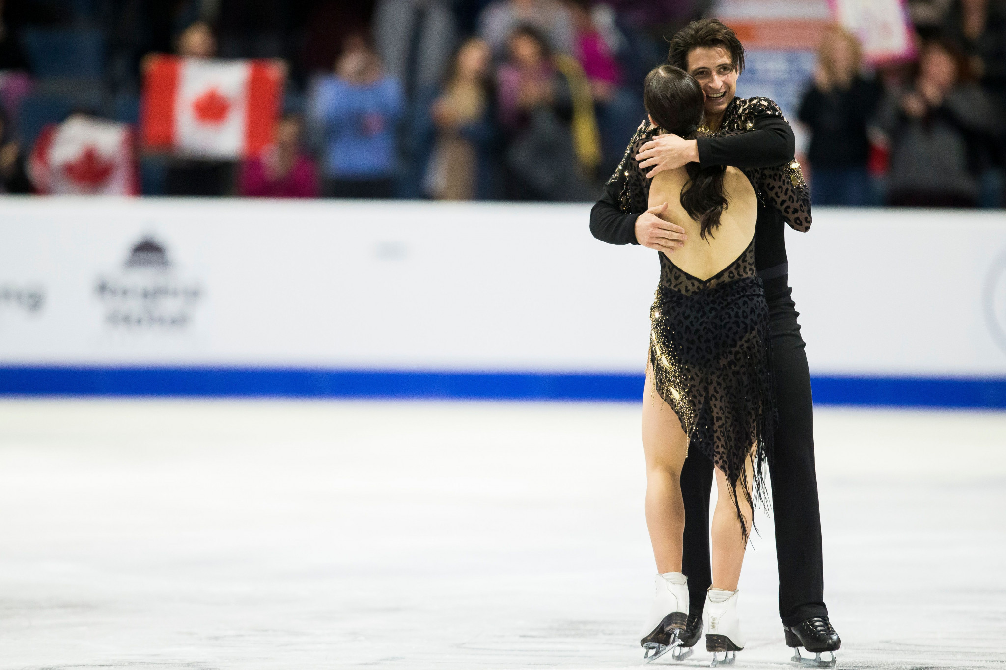 Tessa Virtue and Scott Moir set a world record breaking short programme ©Getty Images