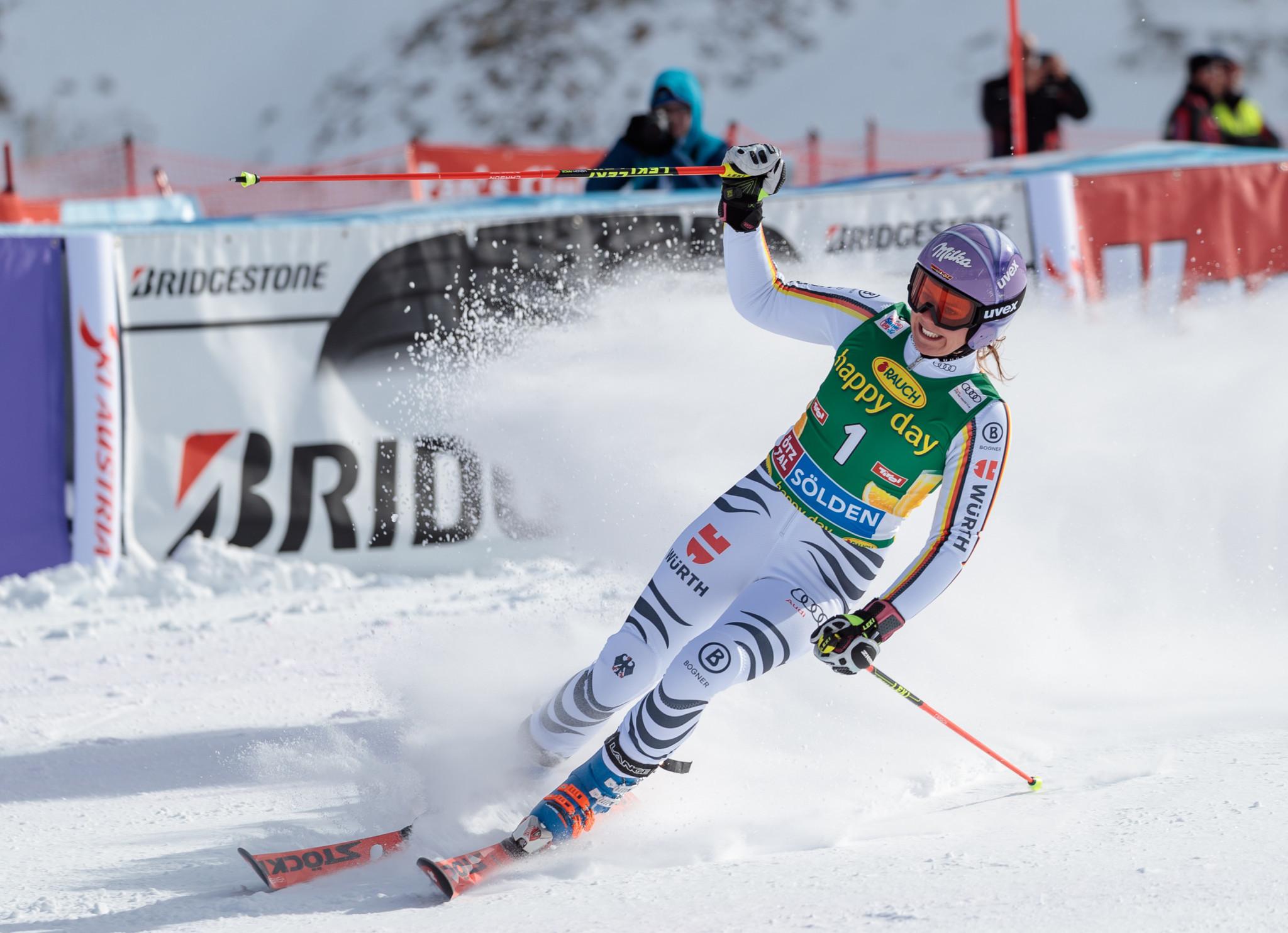 Germany's Rebensburg wins season-opening giant slalom at FIS Alpine Skiing World Cup in Soelden