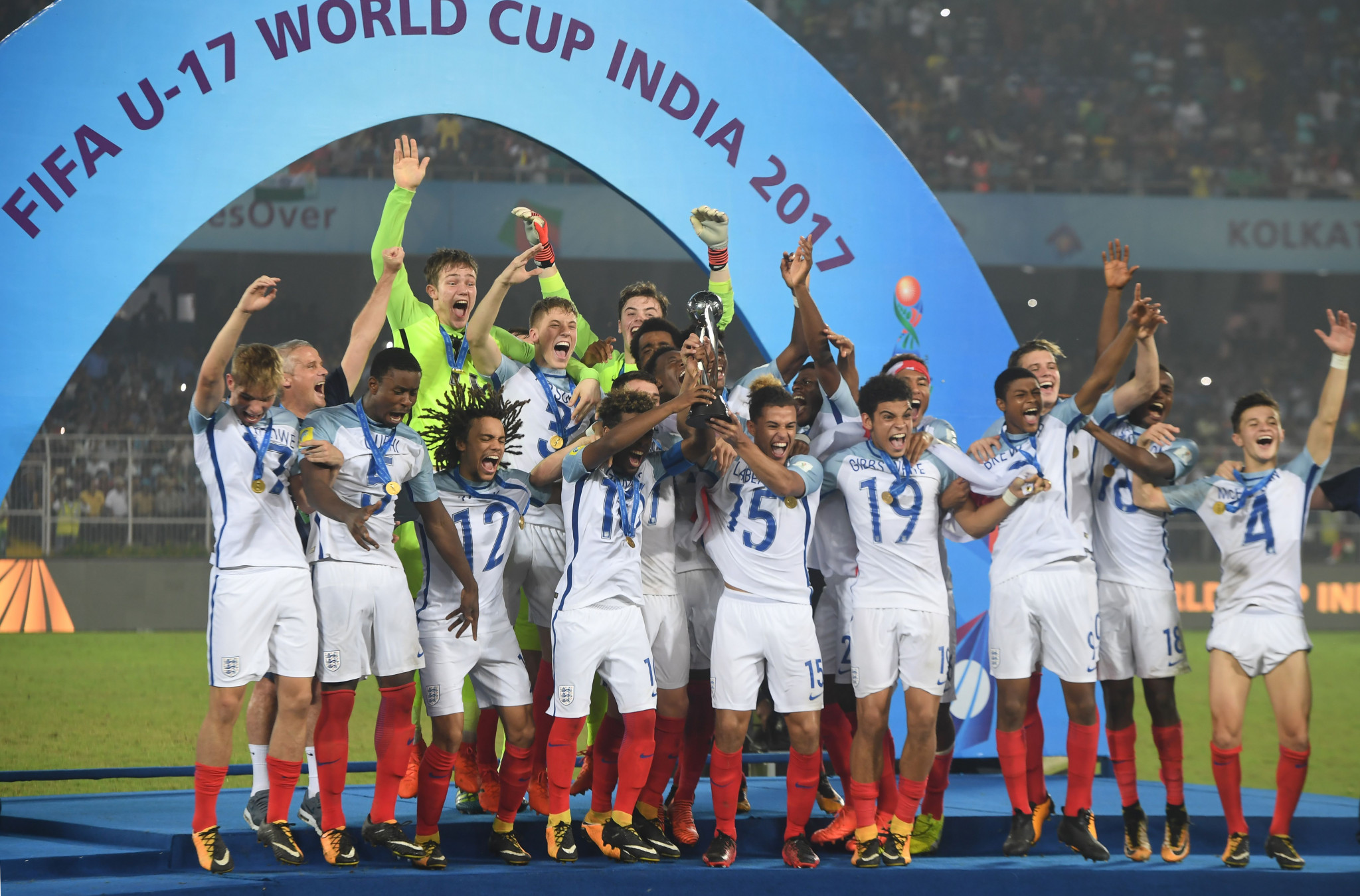 England come from behind to stun Spain in FIFA Under-17 World Cup final