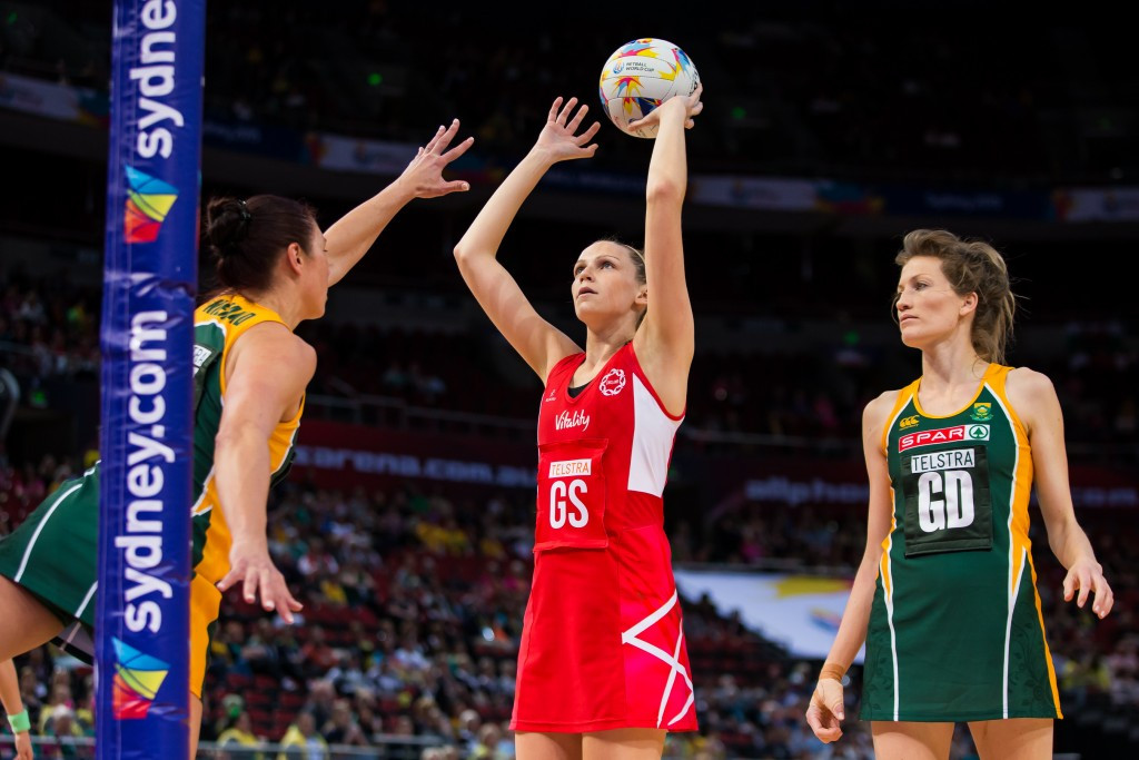 England beat South Africa to ensure their passage through to the Netball World Cup semi-finals ©England Netball