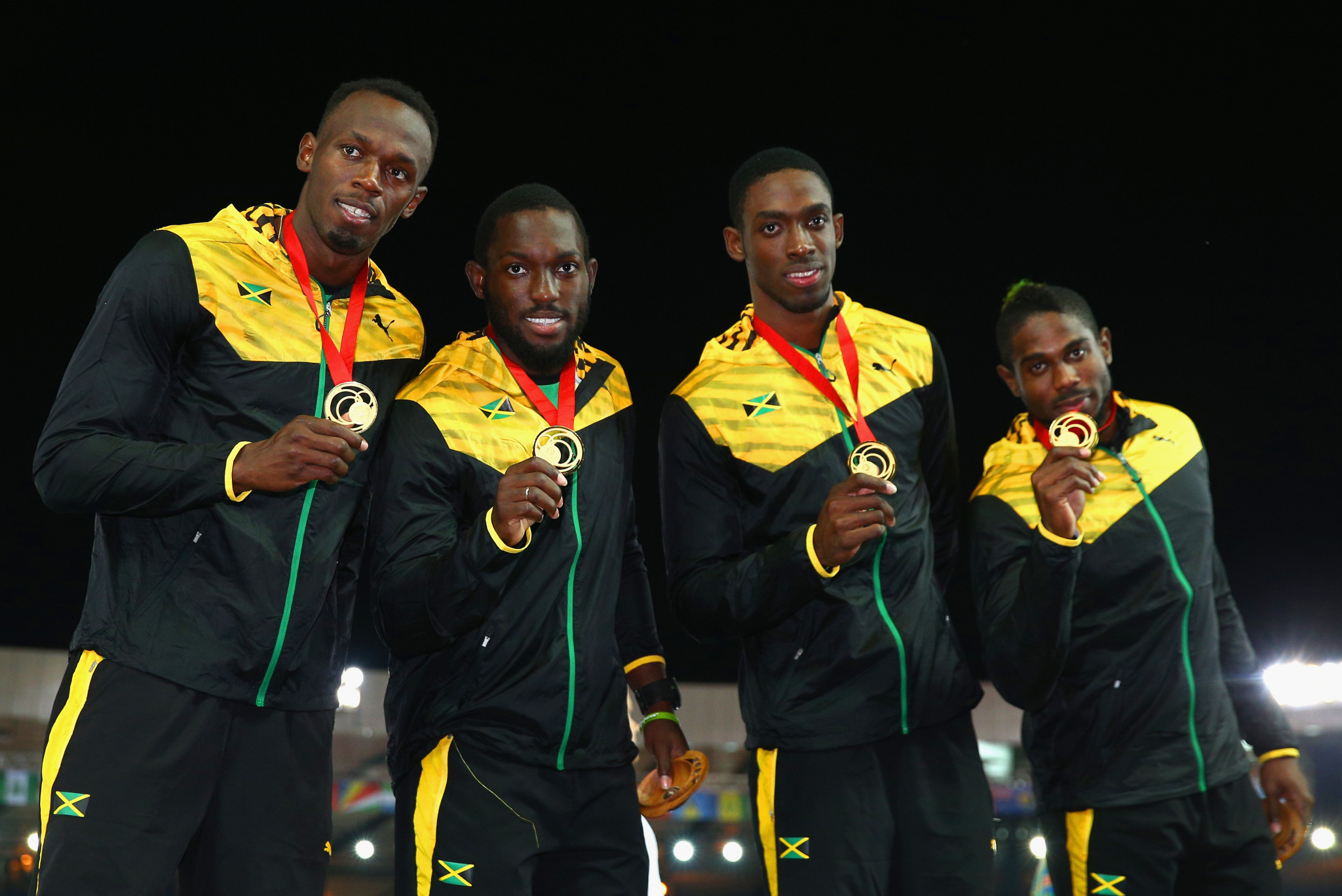 Jason Livermore, right, won a Commonwealth Games gold medal in the 4x100 metres relay at Glasgow 2014 ©Getty Images