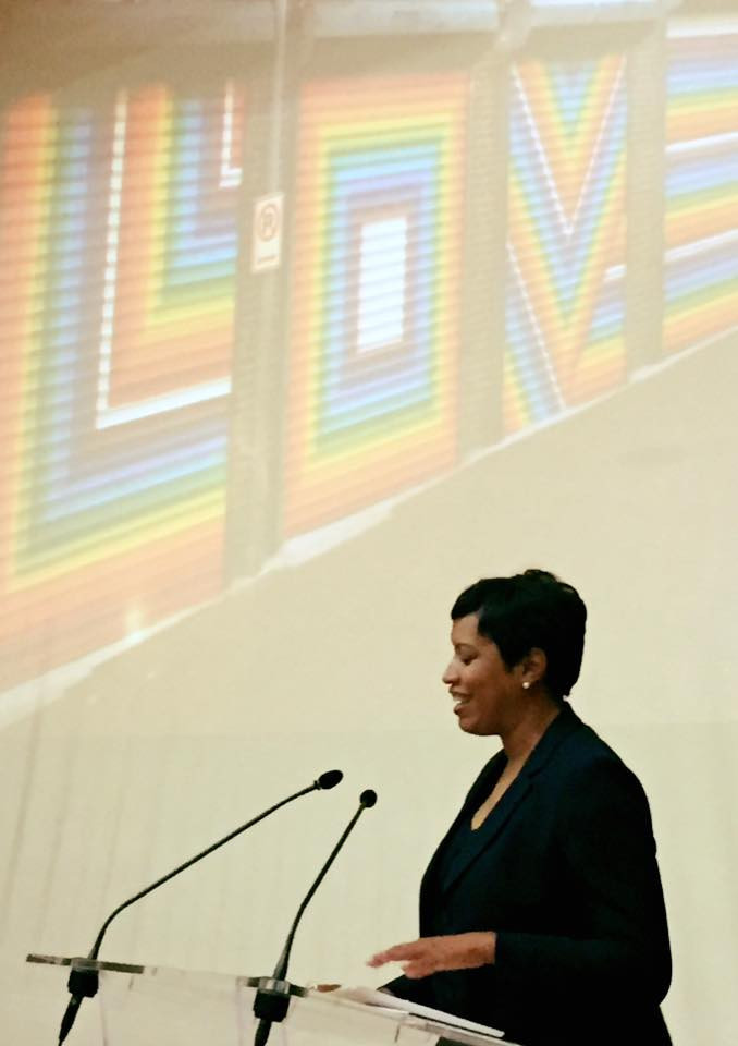 Washington D.C. Mayor Muriel Bowser is leading her city's delegation bidding for the 2022 Gay Games ©Washington D.C. 2022