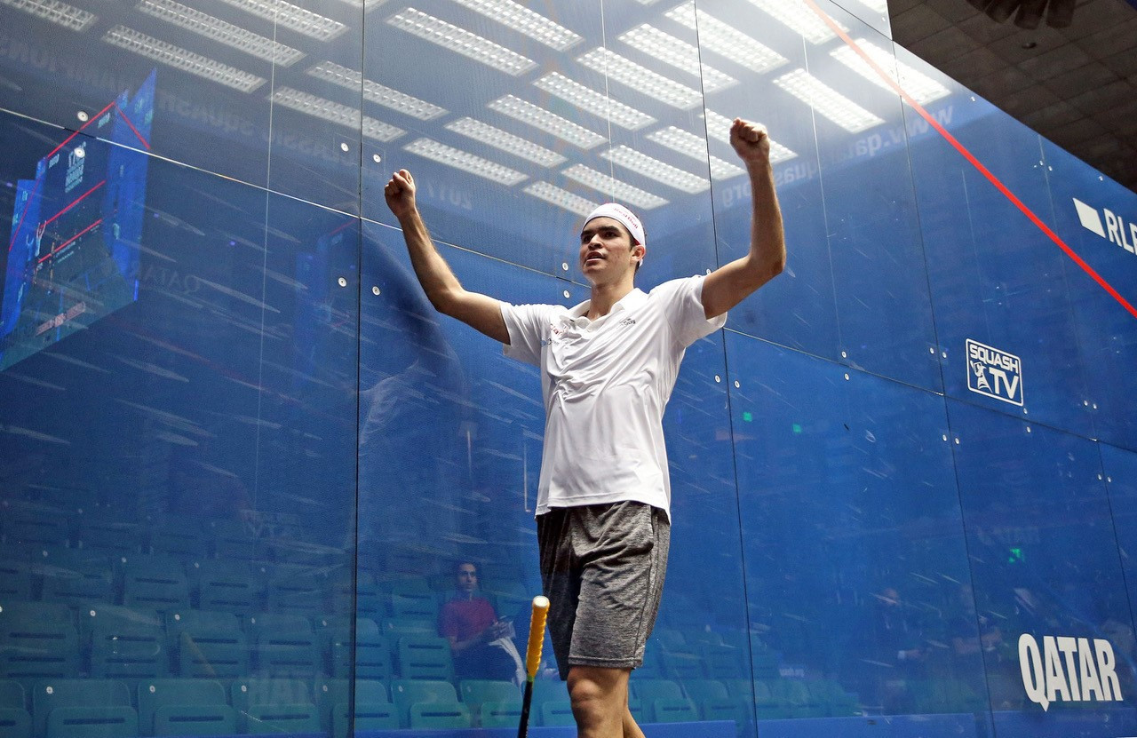 Elias claims surprise win over former world number one at PSA Qatar Classic